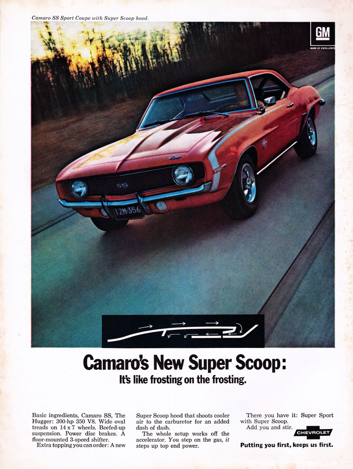 69 Camaro Super Scoop Ad