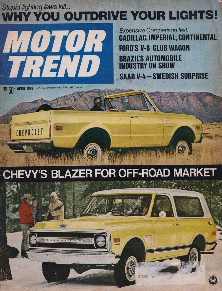 69 Chevy Blazer Motor Trend Cover Girl