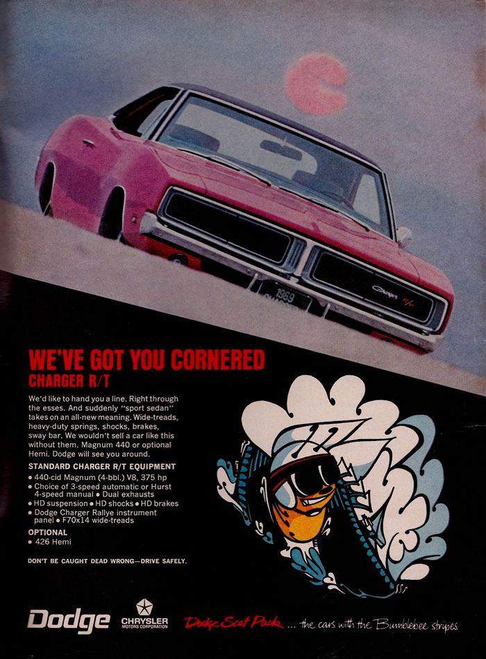 69 Dodge Charger RT Scat Pack Ad