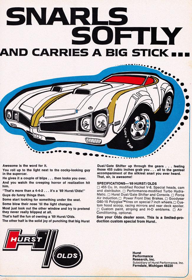 69 Hurst Oldsmobile 455 Rocket V8 Ad