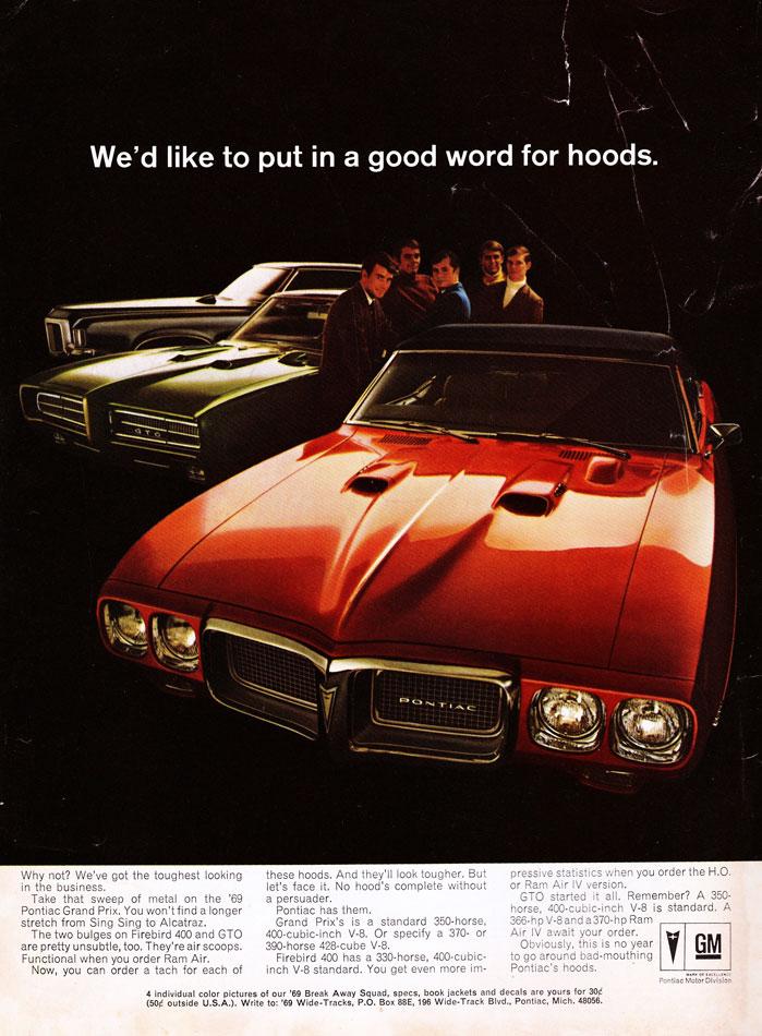 69 Pontiac GTO Firebird Gran Prix Ad