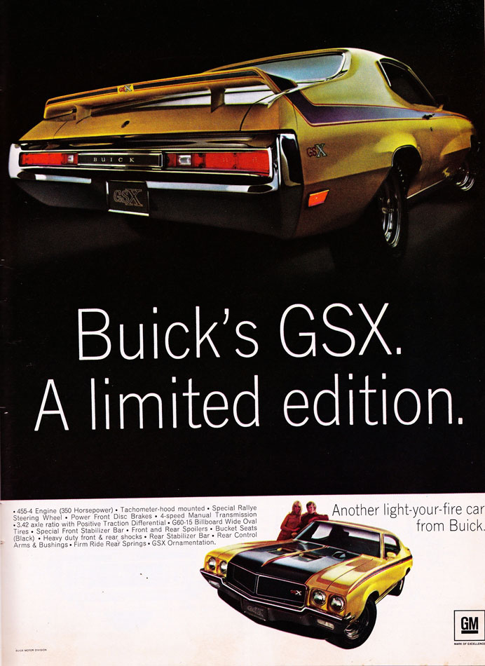 70 Buick GSX Light Your Fire Ad