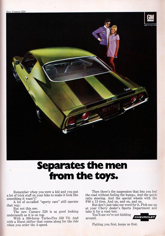 70 Chevy Camaro Z28 Ad