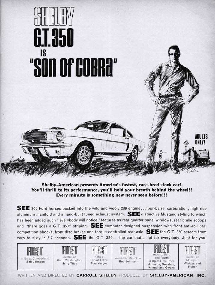 Carroll Shelbys GT350 is Son Of Cobra 69 Film Ad