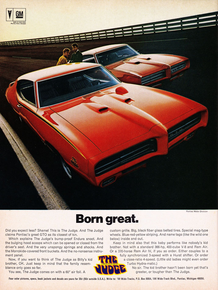 Pontiac GTO The Judge Ad
