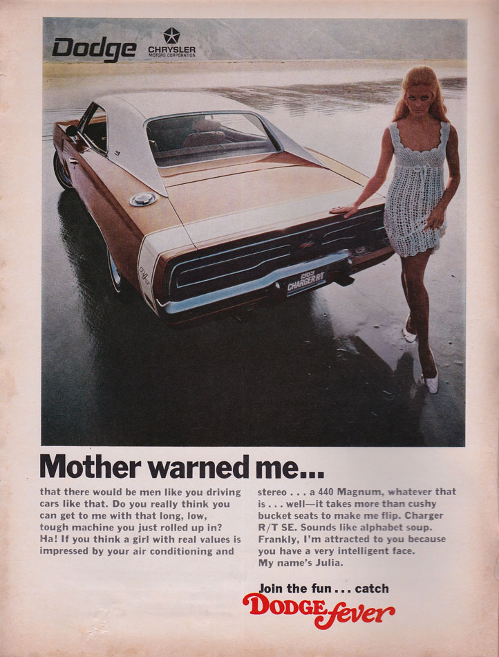 69 Dodge Charger RT Mother Warned Me Ad
