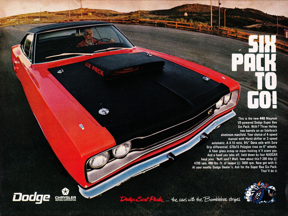69 Dodge Super Bee Scat Pack Ad