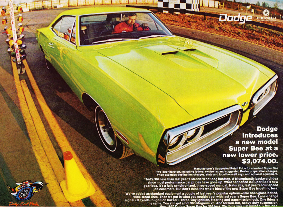 70 Dodge Super Bee Scat Pack Ad