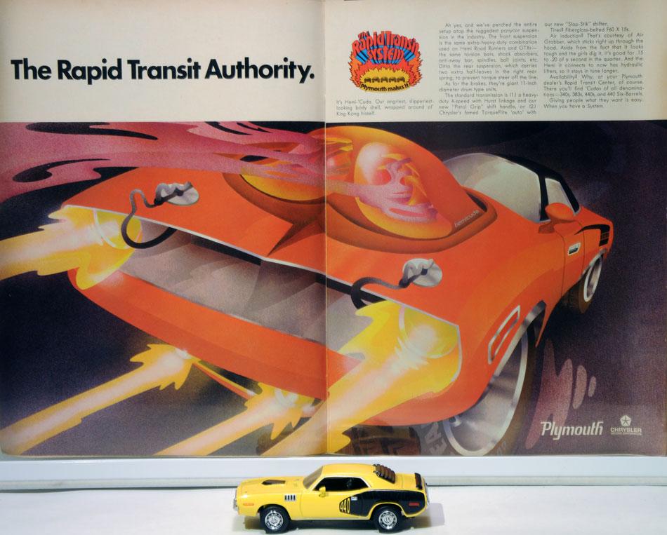 70 Plymouth Cuda Rapid Transit  System Ad