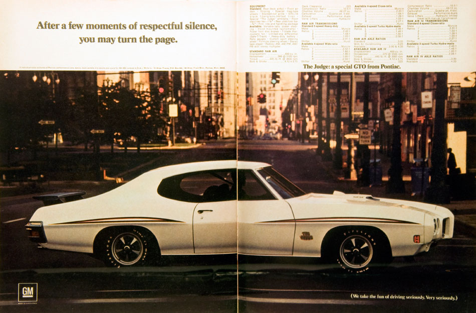70 Pontiac The Judge GTO Ad
