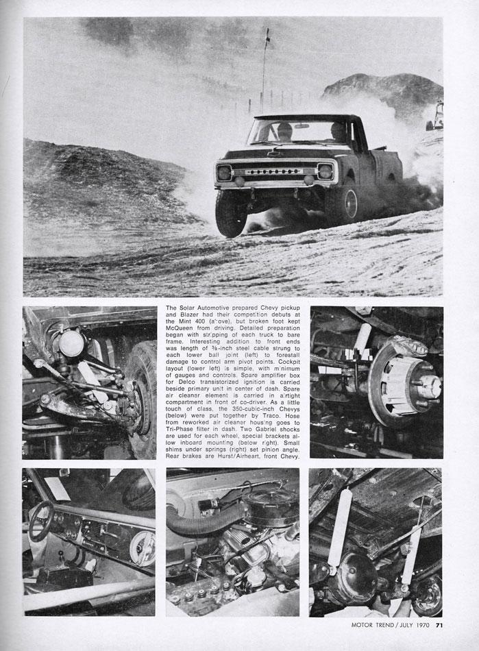 1970 Steve McQueen Off Road Racers Chevy Blazers pg2