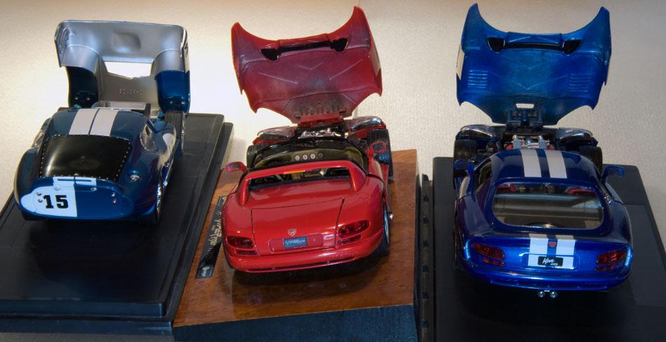 65 Shelby Cobra 92 Dodge Viper RT10 96 Dodge Viper GTS