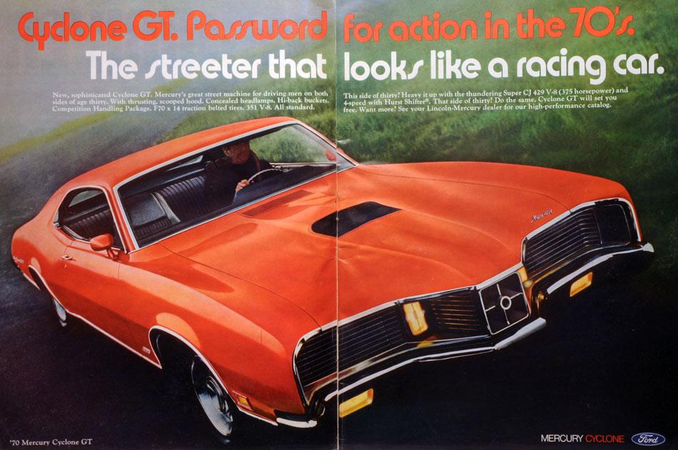 1970 Ford Mercury Cyclone GT Ad