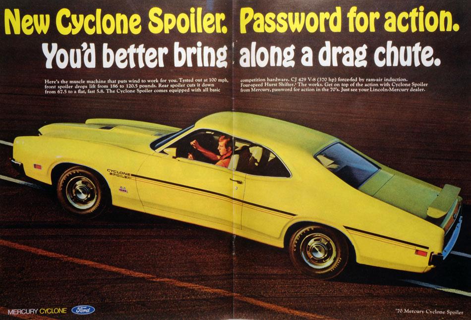 1970 Mercury Cycone Spoiler Ad