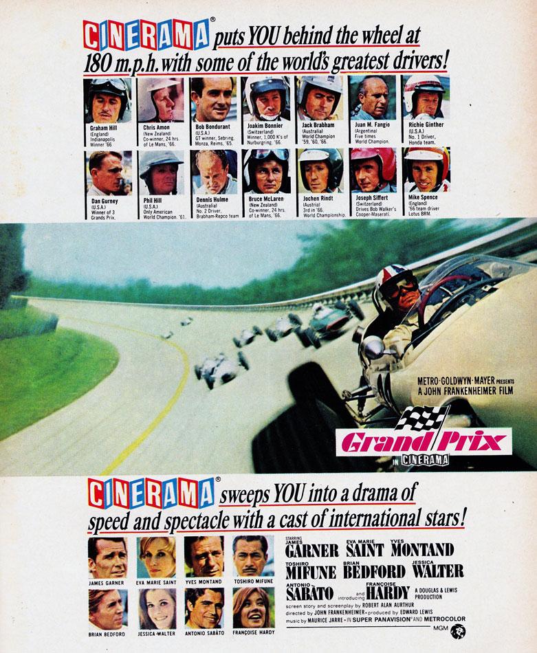 James Garners Grand Prix 1967 Ad