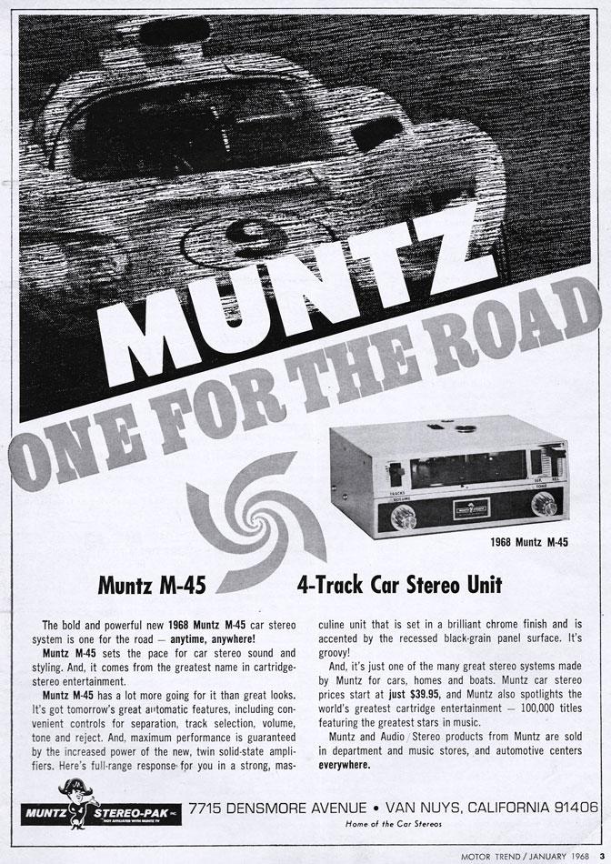 Muntz 4 Track Car Stereo Ad
