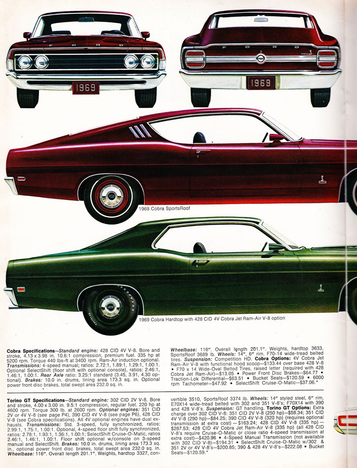 69 Ford Performance Parts Guide 2
