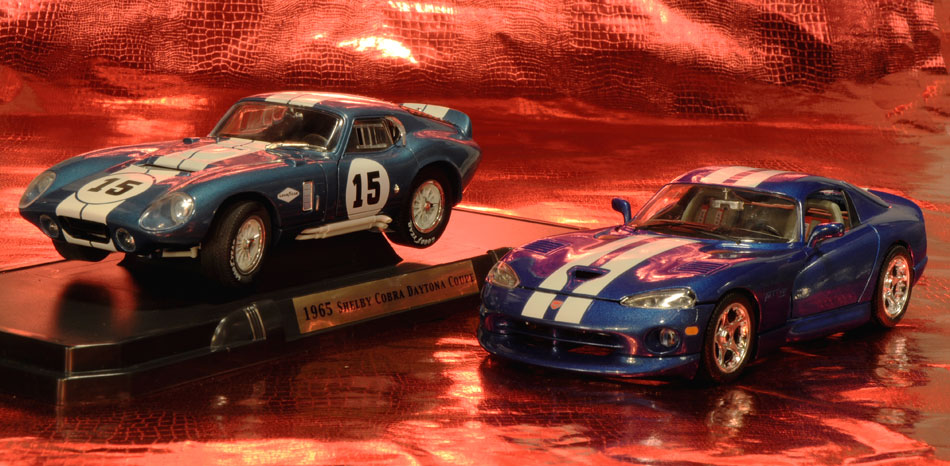 65 Shelby Cobra And 96 Doge Viper GTS Coupe