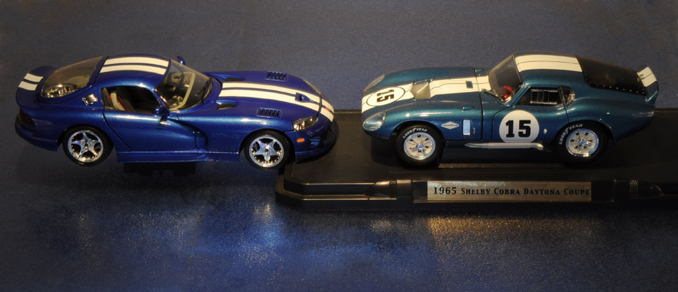 96 Viper GTS Coupe And 65 Shelby Cobra