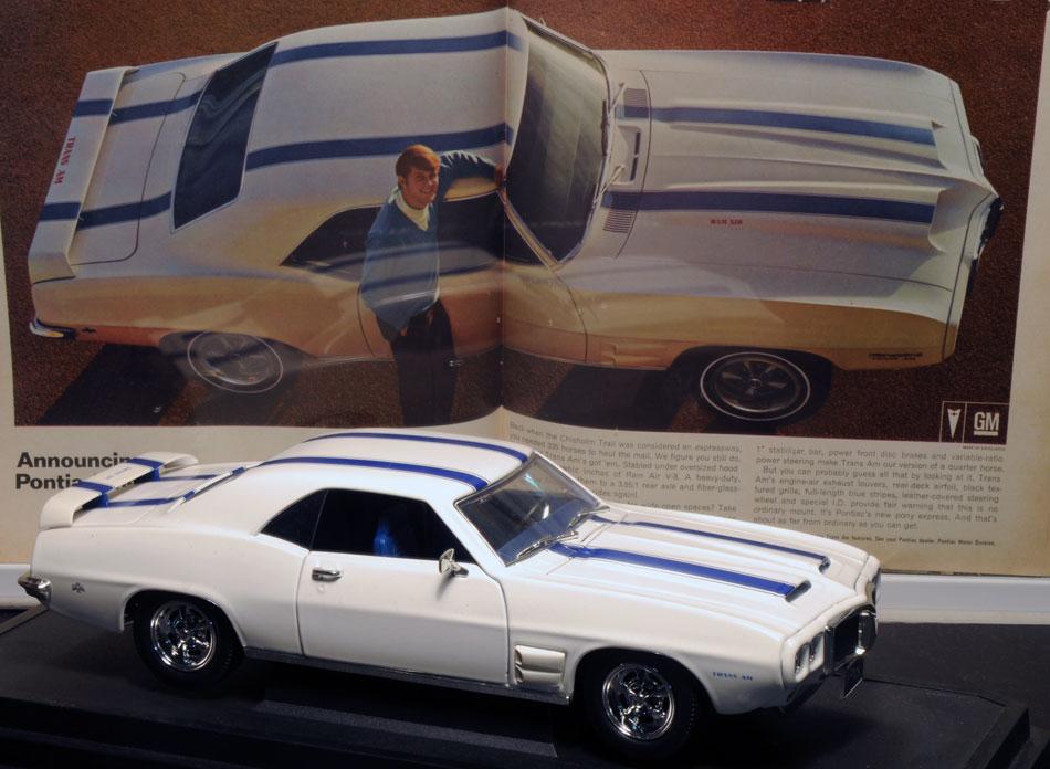 69 Pontiac Firebird TransAm Die Cast & Ad