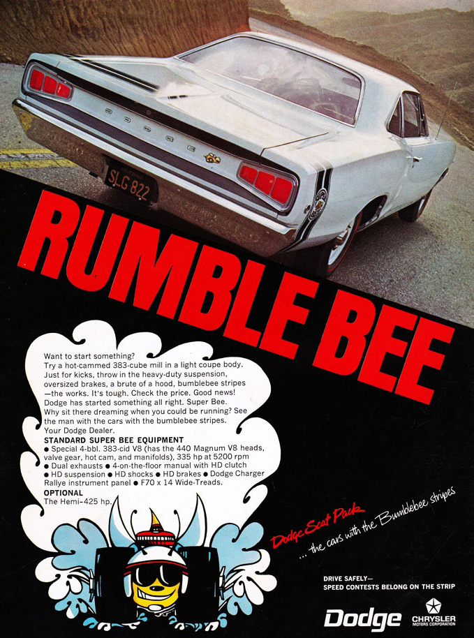1968 Dodge Super Bee Ad