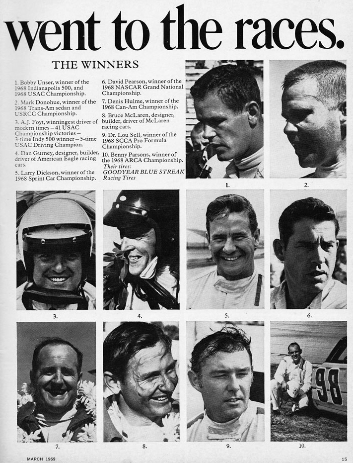 1968 Race Winners