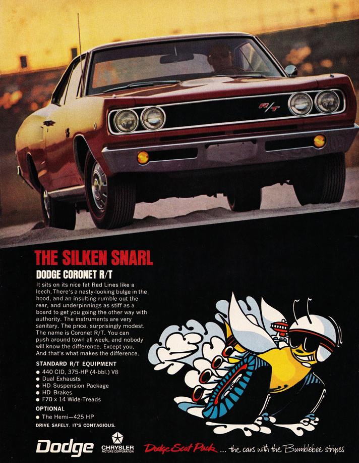 68 Dodge Coronet RT Ad