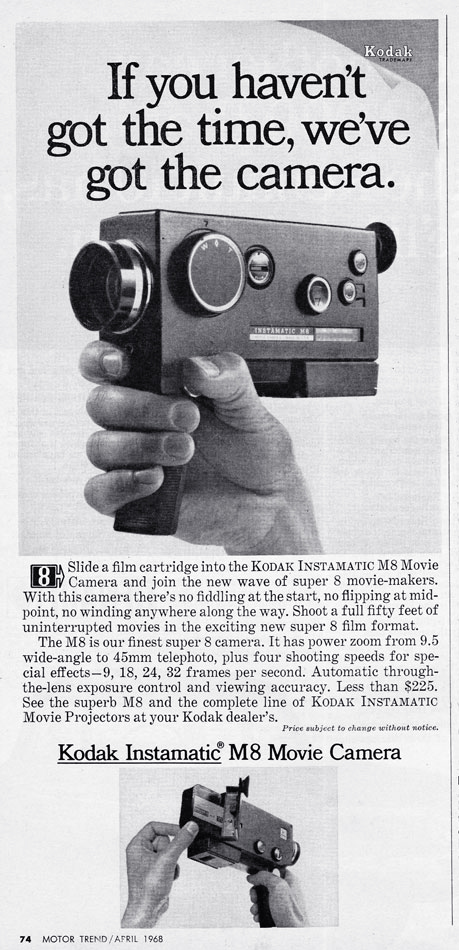 68 Kodak Instamatic Super 8 Camera Ad