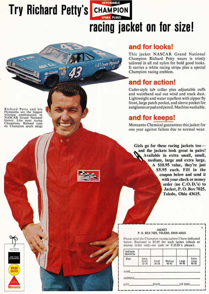 68 Richard Petty Racing Jacket Ad