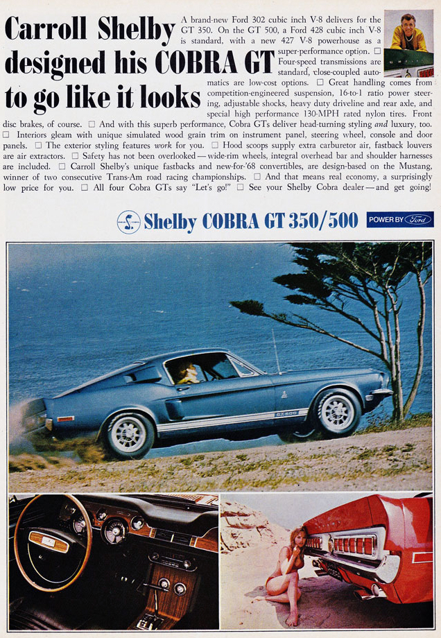 Carroll Shelby Cobra GT 500 Ad