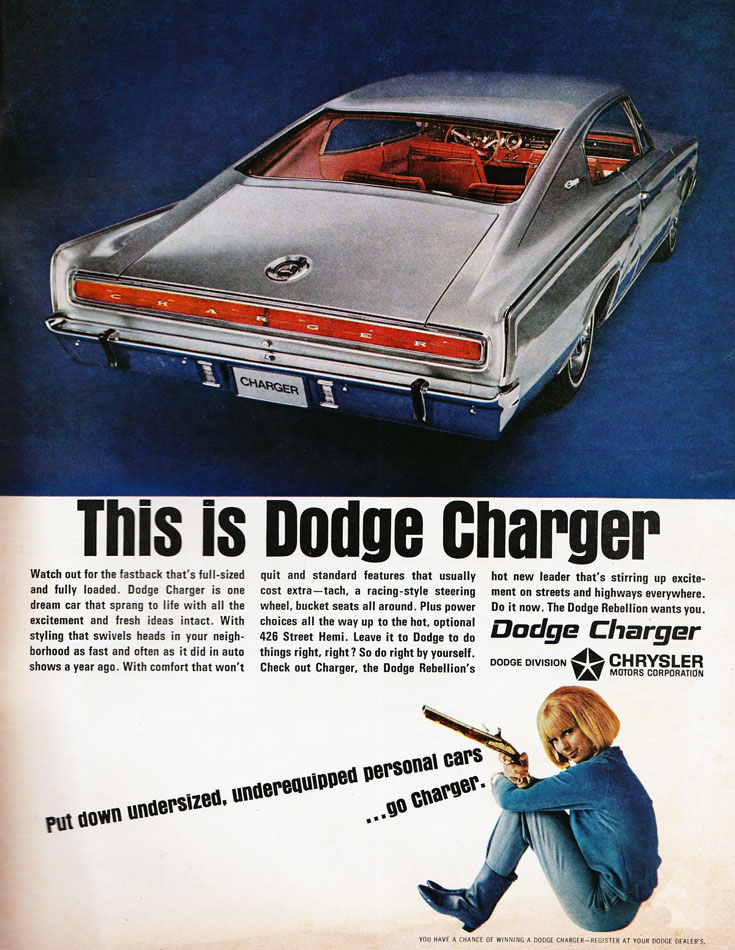 This Is 67 Dodge Charger Ad