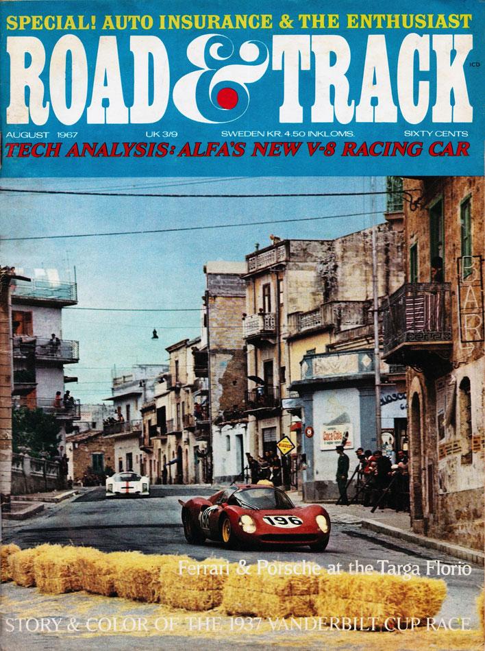 67 Road & Track Cover Ford V Ferrari Targa Florio