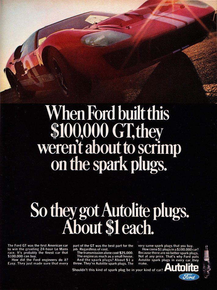 66 Ford GT Ad