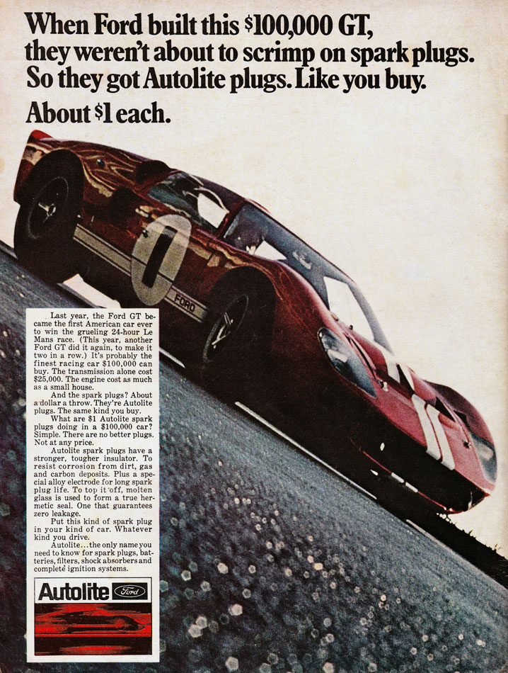 67 Ford GT Autolite Ad