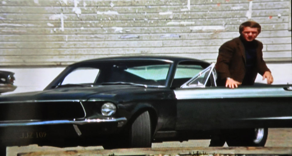 Steve McQueen And His Bullit Stunt Car Mustang