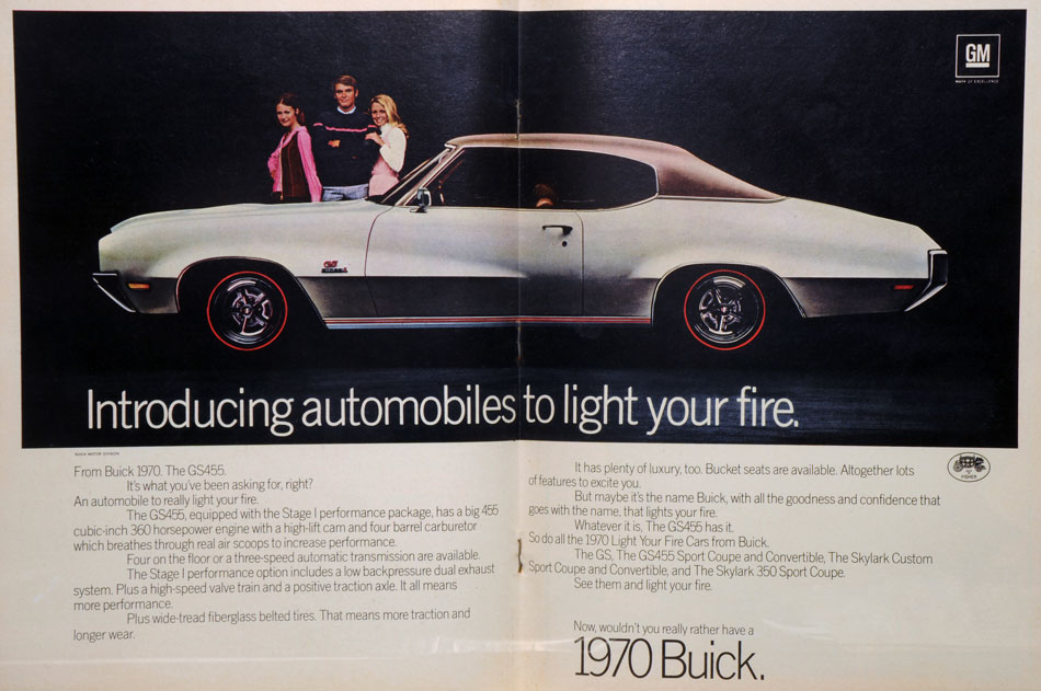 Doors Light My Fire 1970 Buick GS 455 Ad