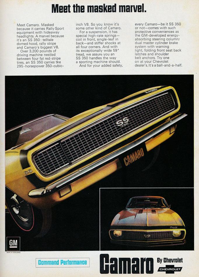 68 Camaro SS350 Ad