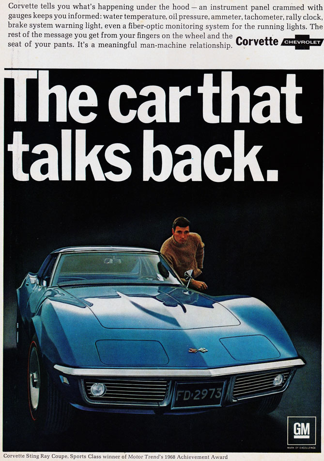 68 Corvette The Car That Talks Back Ad