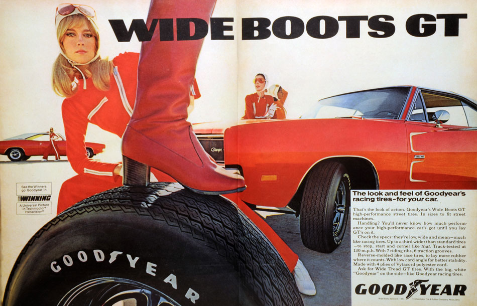 69 Dodge Charger Goodyear Boots Ad
