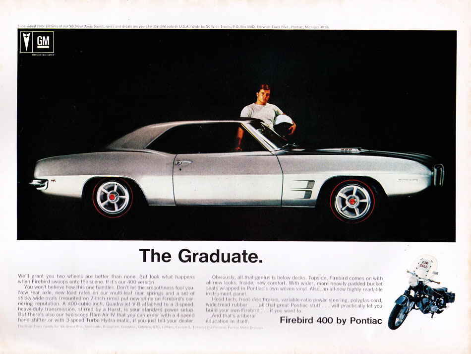 69 Pontiac Firebird 400 The Graduate Ad
