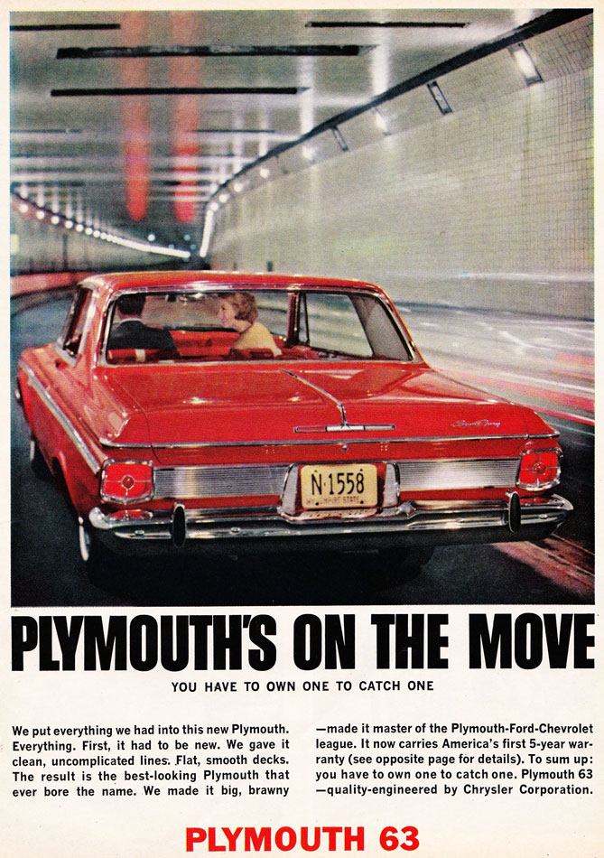 63 Plymouth Sport Fury Ad