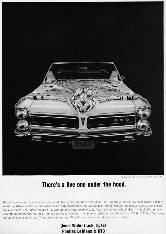 65 Pontiac GTO Tigers Ad
