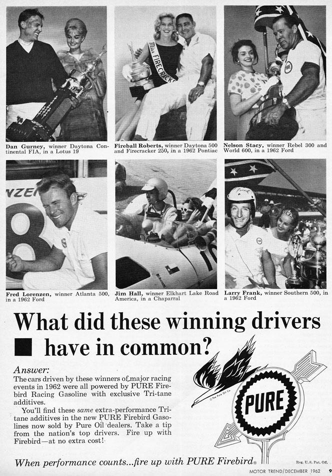 Fireball Roberts Daytona 500 Winner Ad