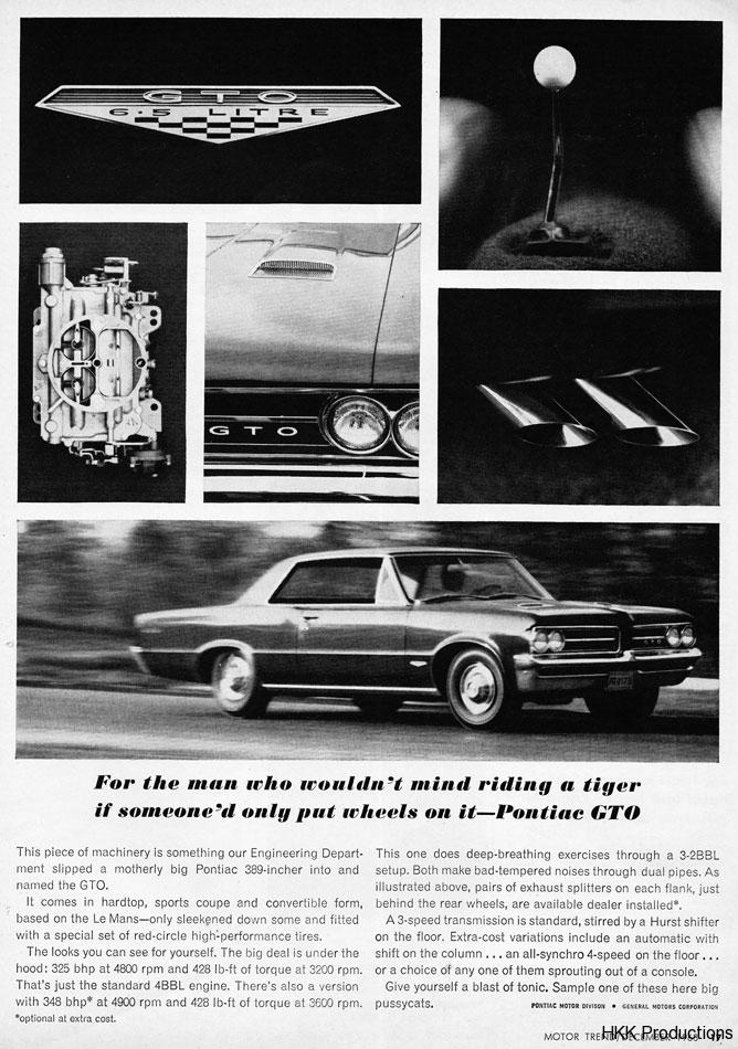 63 Pontiac GTO Ride A Tiger Ad