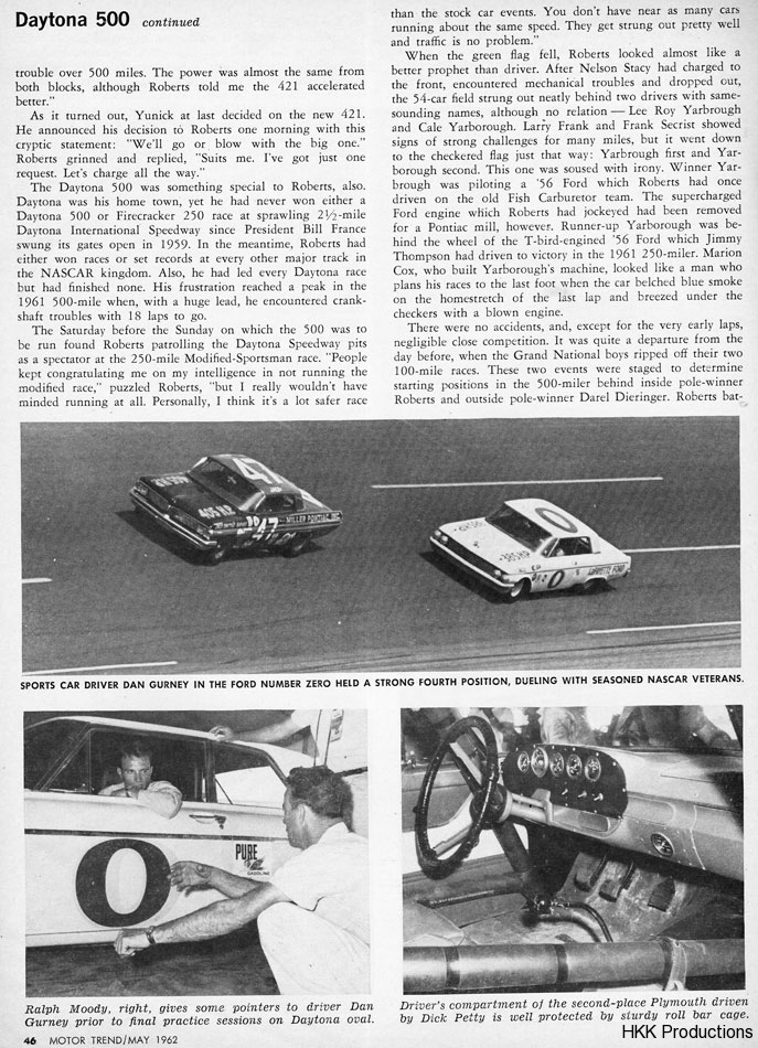 Fireball Roberts 62 Daytona 500 Win 3