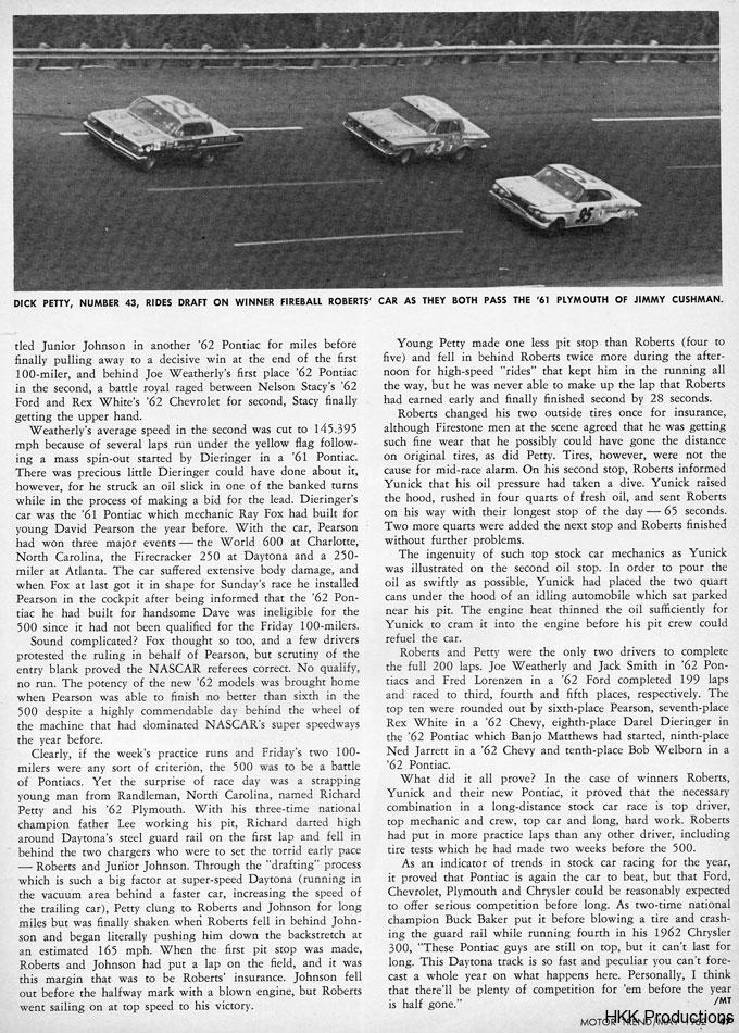 Fireball Roberts 62 Daytona 500 Win 4