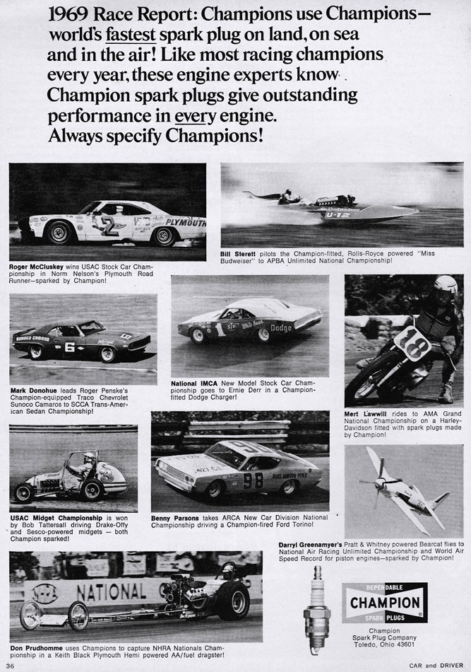 1969 Race Report Champion Ad