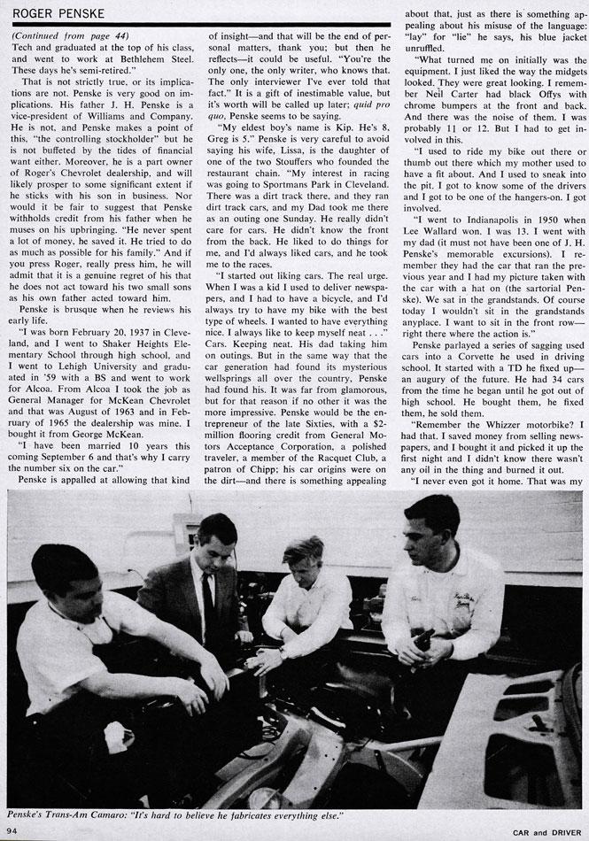 Roger Penske Modern Major 1968