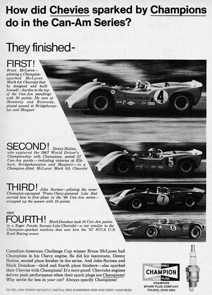 Chevies CanAm Series Champion Ad