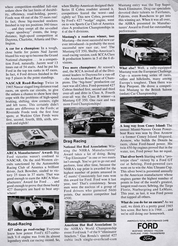 65 Ford Race Records 2